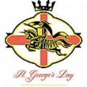 Celebrate St. George Day Proud To Be English Retro Poster Art Print by Aloysius Patrimonio
