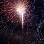 Celebration Fireworks Grand Lake Co 2007 Art Print