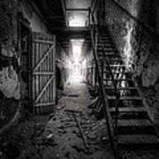 Cell Block - Historic Ruins - Penitentiary - Gary Heller Art Print