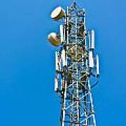 Cell Tower And Radio Antennae Art Print