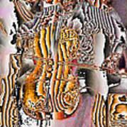 Cello Man Art Print