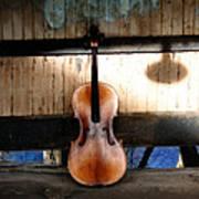 Cello Neck Blues Art Print