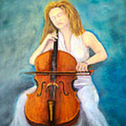Cello Player Art Print
