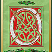 Celtic Christimas O Initial Art Print