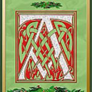 Celtic Christmas A Initial Art Print