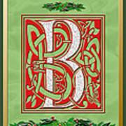 Celtic Christmas B Initial Art Print