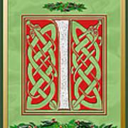 Celtic Christmas I Initial Art Print