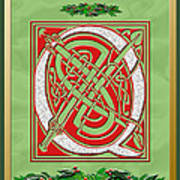 Celtic Christmas Q Initial Art Print