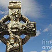 Celtic Cross, Cong Abbey, Ireland Art Print