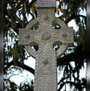 Celtic Cross In Savannah Art Print