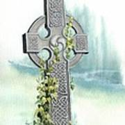 Celtic Cross With Ivy II Art Print