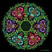 Celtic Fairy Mandala Art Print