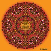 Celtic Fall Fairy Mandala Art Print