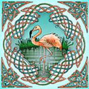 Celtic Flamingo Art Art Print