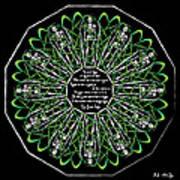 Celtic Flower Of Death Art Print