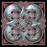 Celtic Hearts - Red Art Print