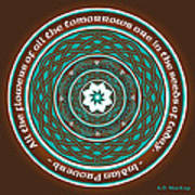 Celtic Lotus Mandala Art Print