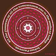 Celtic Lotus Mandala In Pink And Brown Art Print