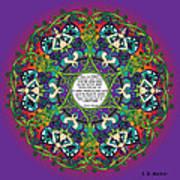 Celtic Spring Fairy Mandala Art Print