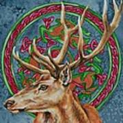 Celtic Stag Art Print