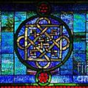 Celtic Stained Glass Horizontal Art Print