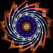 Celtic Tarot Moon Cycle Zodiac Art Print