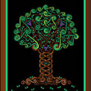 Celtic Tree Of Life Art Print