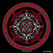Celtic Vampire Bat Mandala Art Print