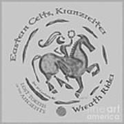 Celtic Wreath Rider Coin Art Print