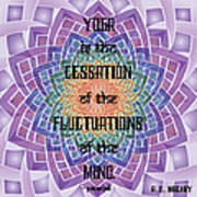 Celtic Yoga Sutra Art Print