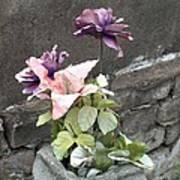 Cemetary Flowers 2 Art Print