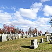 Cemetery At Gettysburg National Battlefield Art Print by Brendan Reals