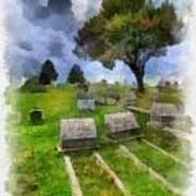 Cemetery Clouds Art Print