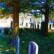 Cemetery Color 2 Art Print