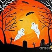 Cemetery Ghosts Art Print
