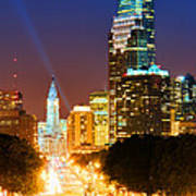 Center City Philadelphia Night Art Print
