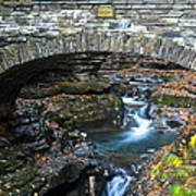 Central Cascade Art Print by Frozen in Time Fine Art Photography