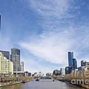 Central Melbourne Skyline By Day Australia Art Print