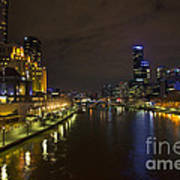 Central Melbourne Skyline In Australia Art Print