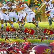 Central Michigan Football Collage Art Print