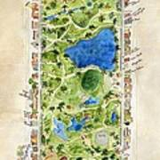 Central Park And All That Surrounds It Art Print