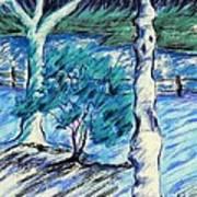 Central Park Blues Art Print