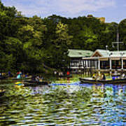 Central Park Boathouse Art Print