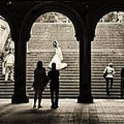 Central Park Bride Art Print