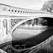 Central Park Bridges Bow Bridge Spanning Lake Art Print