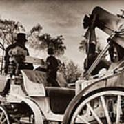 Central Park Carriage Ride - Antique Appeal Art Print
