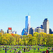 Central Park Panoramic View Art Print