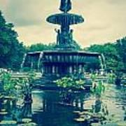 Central Park Fountain Art Print