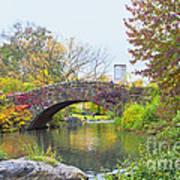 Central Park Gapstow Bridge Autumn II Art Print