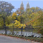 Central Park In Autumn 2 Art Print